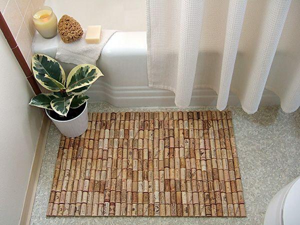 wine cork bath mat - Wine Cork Picture Frame