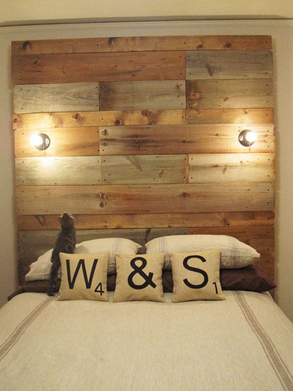 Headboard Ideas Diy Wood: 13 DIY Headboards Made From Repurposed Wood,