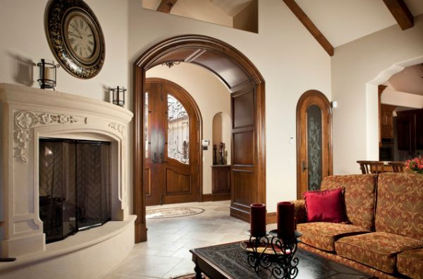 ... View in gallery The wooden arched doorway ...