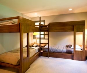 Bunk Beds For Four Wonderful E Saving Additions To The Kids Rooms