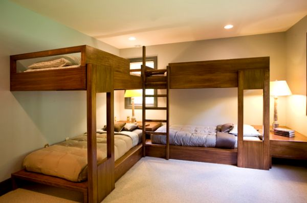 Bunk Beds For Four Wonderful Space Saving Additions To The Kids Rooms
