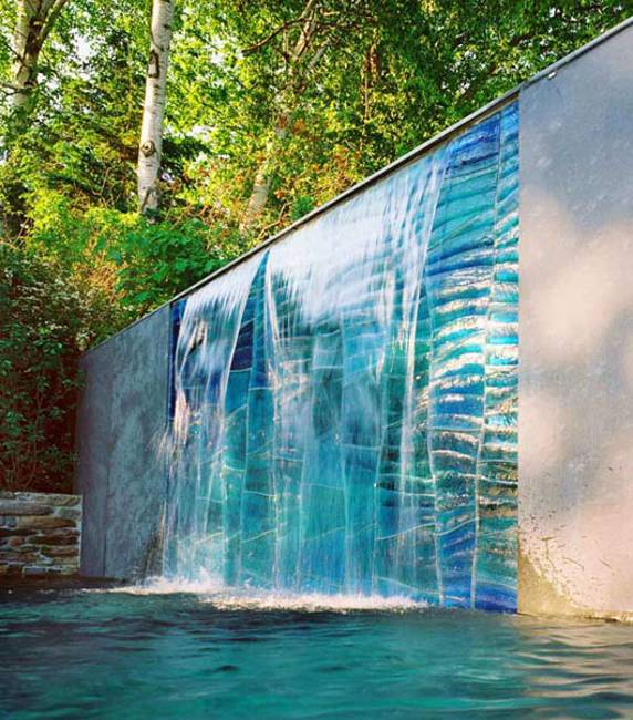 Contemporary waterfalls can look quite impressive