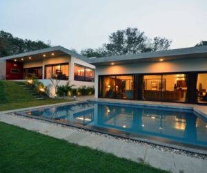 Luxury home surrounded by natural beauty in India