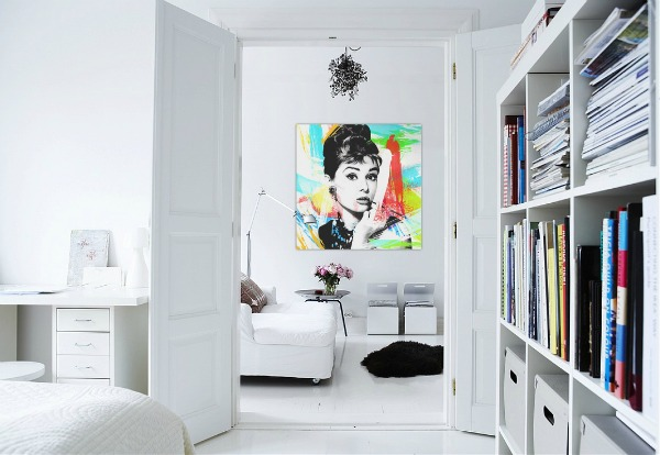 Interior Design White Walls with Art Design Concept