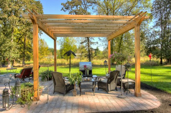 how to build closed a shaped pergola