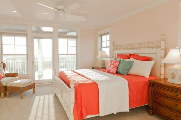 Bedroom Ideas Peach peach and coral accents: ideas and inspiration