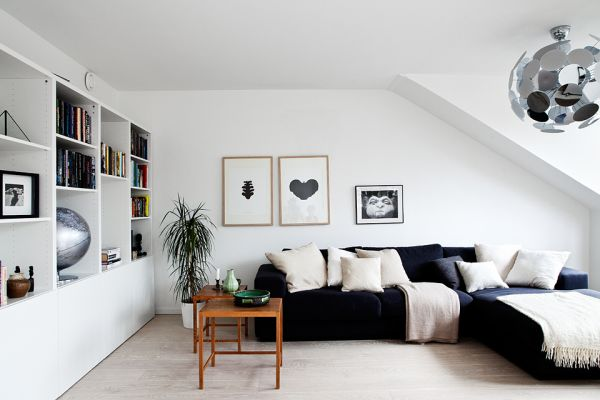 Attics can be simple and cozy at the same time