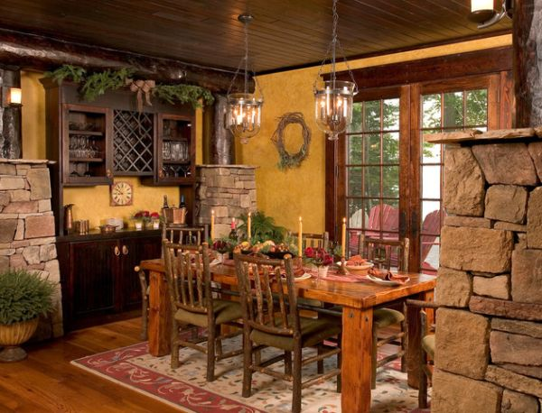 view in gallery stones and wood create cabin magic