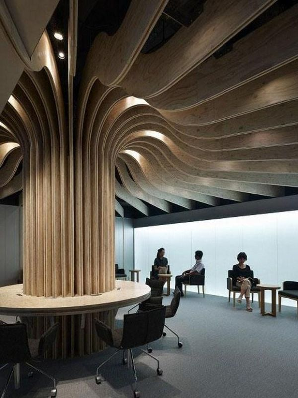 10 unconventional and visually striking ceiling designs for Columns designs
