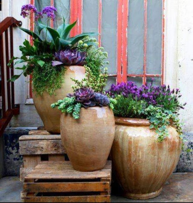 35 front door flower pots for a good first impression - Garden Ideas Using Pots