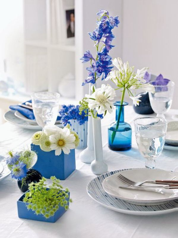 Use Blue Flowers To Create A Mediterranean Or Sea Inspired