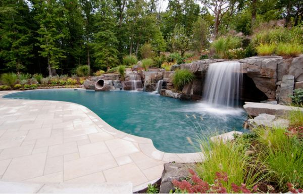 25 backyard waterfalls to include in your landscaping - Garden Waterfalls