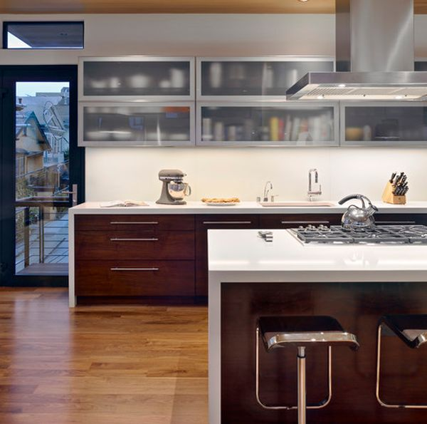 A Mix Of Functionality And Style In The Form Of Glass Kitchen Cabinets