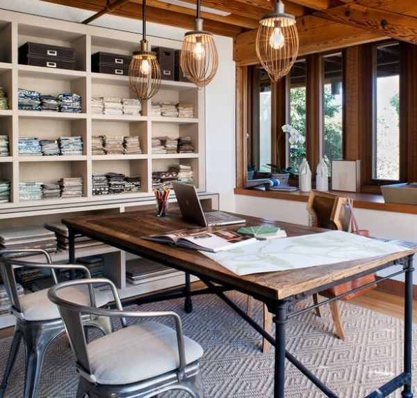 Merveilleux Industrial Home Office Designs For A Simple And Professional Look