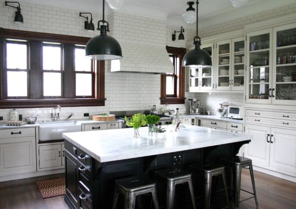 Add Character To Your Kitchen With Industrial Pendant Lights - Images of kitchen pendant lighting
