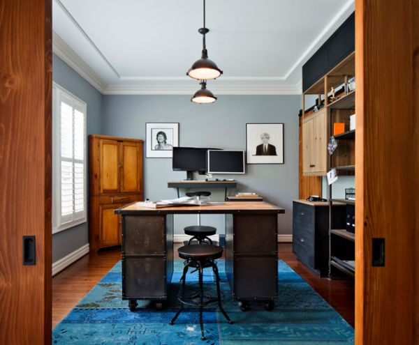 Industrial Home Office Designs For A Simple And Professional
