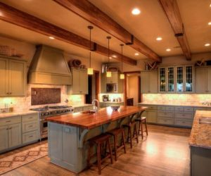 Rustic And Inviting Kitchens Featuring Exposed Ceiling Beams