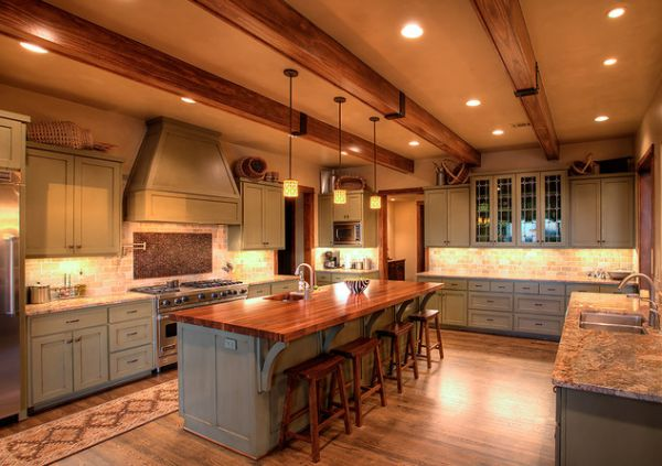 Rustic and inviting kitchens featuring exposed ceiling beams mozeypictures Images
