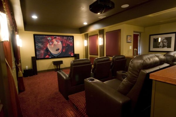 Themed Rooms Movie Night : leather movie chairs from www.homedit.com size 600 x 399 jpeg 32kB