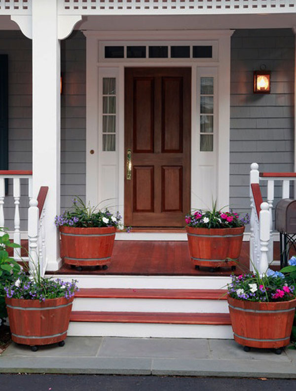 & 35 Front Door Flower Pots For A Good First Impression Pezcame.Com