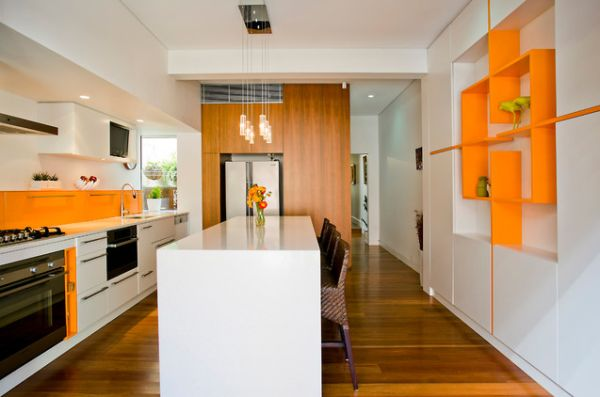 White Kitchen Orange Accents the underused interior design color - how to use orange indoors