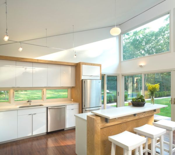 kitchen window lighting framing glazing high spaces unusual windows that light up interiors