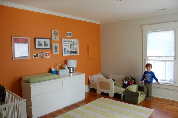painting one wall a different color in a bedroom the underused interior design color how to use orange 21338