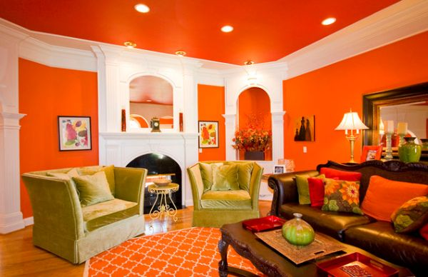 the underused interior design color how to use orange indoors. Black Bedroom Furniture Sets. Home Design Ideas