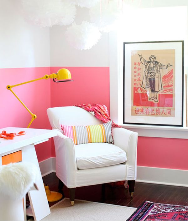 Paint-dipped walls – a colorful trend in interior décor