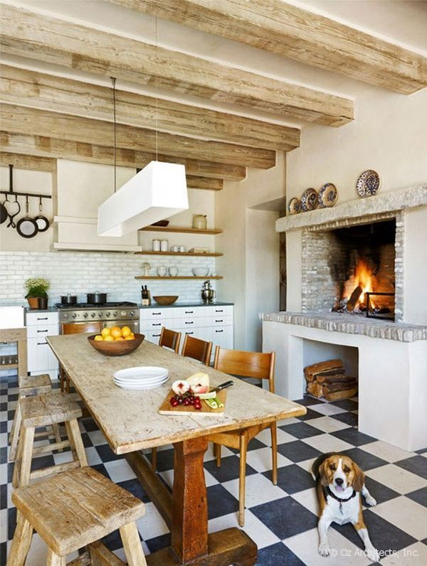 Rustic charm and natural beauty in a farmhouse from the - Fotos de chimeneas rusticas ...