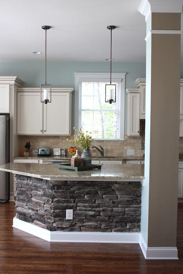 Inspiring Kitchen Half Wall
