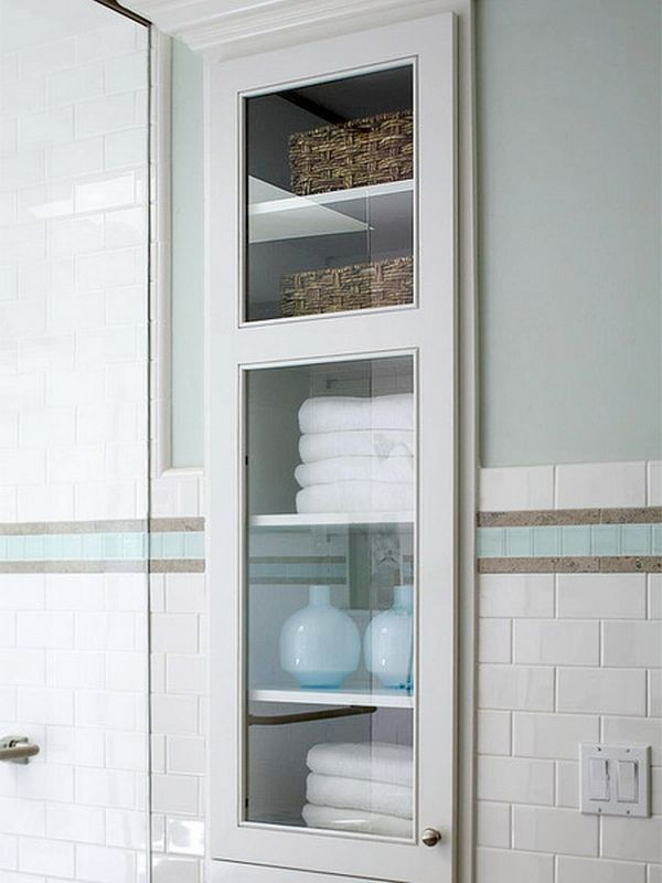 Bathroom Cabinets For Towels towels storage - 24 ideas to spruce up your bathroom