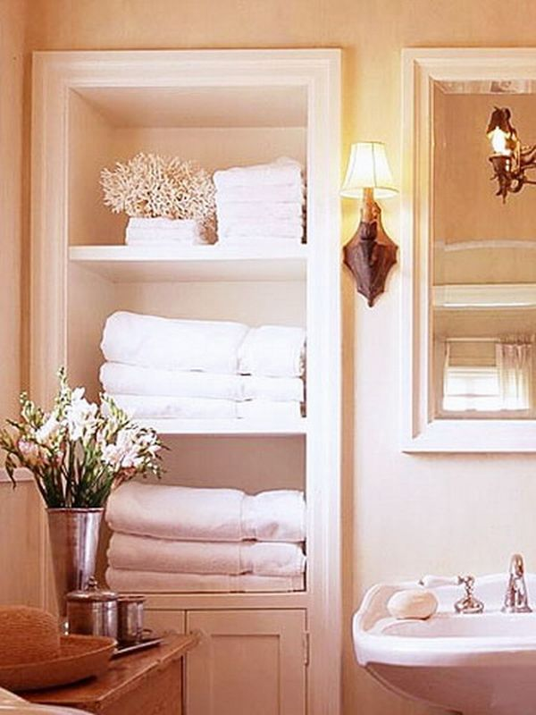 towels storage 24 ideas to spruce up your bathroom. Black Bedroom Furniture Sets. Home Design Ideas