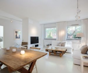 Nordic Flat Garnished With Furniture Made From Recycled Pallets