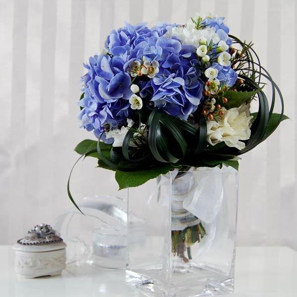 Wedding Centerpieces Blue Flowers - Wedding Dress & Decore Ideas