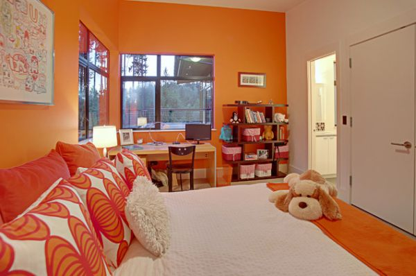 View In Gallery Bedrooms With Orange Walls