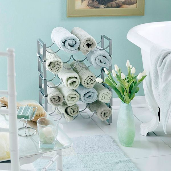 Towel racks.