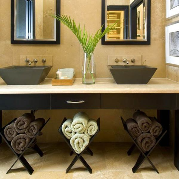 Towels Storage - 24 Ideas To Spruce Up Your Bathroom