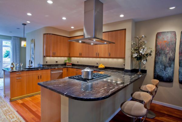 View In Gallery The Range Hood Should Match Kitchen Island
