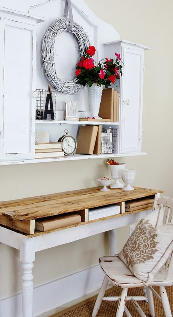 19 diy pallet desks a nice way to save money and to for Diy study table design