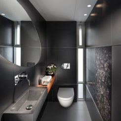 Black Bathroom black is the new black: bathroom colors and black for a chic space
