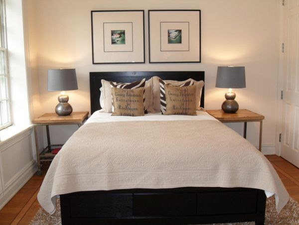 How to design a room around a black bed - Over the bed art ...
