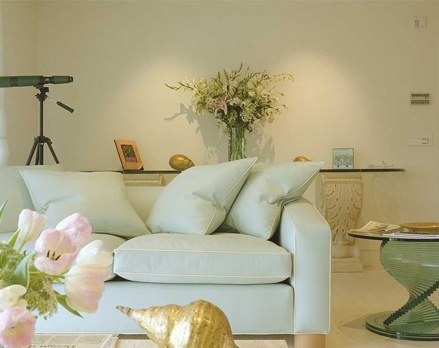 Choose the right sofa color for your living room - Cojines para sofa blanco piel ...