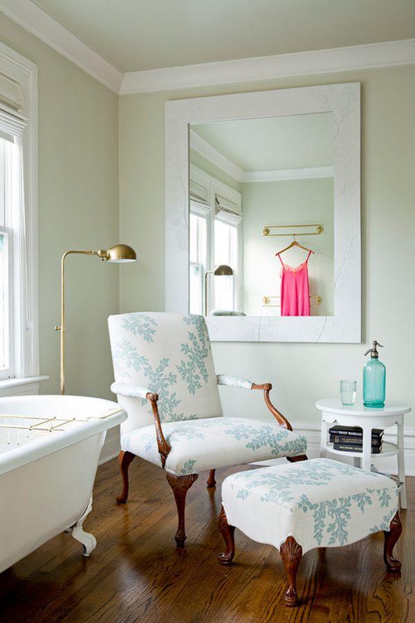 Fun Fabric Chairs Ideas and Inspiration : chair near bathtub from www.homedit.com size 600 x 900 jpeg 63kB