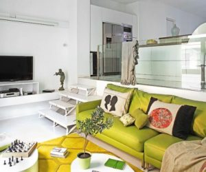 Warehouse Transformed Into A Bright And Cheerful Space