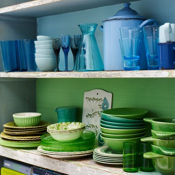 Taste The Rainbow How To Bring Bright Colours Into The Kitchen - Green kitchen accessories ideas