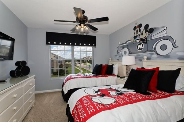mickey mouse bedroom curtains themed rooms disney inspired spaces 16182