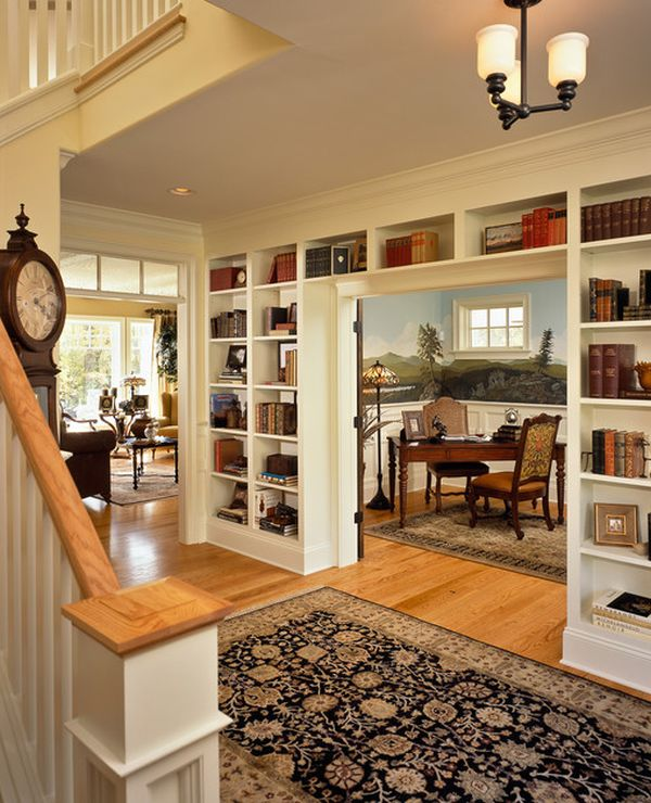 Use books as art with these bookcase d cor ideas A sleek apartment the divides rooms creatively
