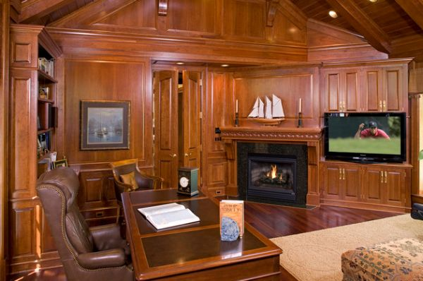 office wood paneling. View In Gallery This Home Office Wood Paneling I