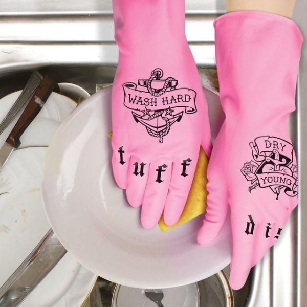 Pink Kitchen Gloves